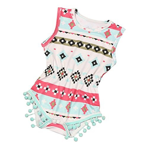 bestpriceam Baby Clothes, Newborn Toddler Printing Bodysuit Romper Jumpsuit (0-6M, Red)