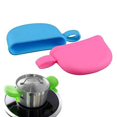Asa de silicona resistente al calor para ollas con mango antideslizante, agarre de agarre de seguridad para cocina, funda de mango, color al azar, As ...