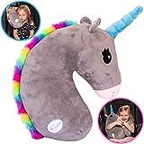 Tulatoo Unicorn Stuffed Animal Travel Pillow- Perfect Neck Pillow & Seat Belt Cover