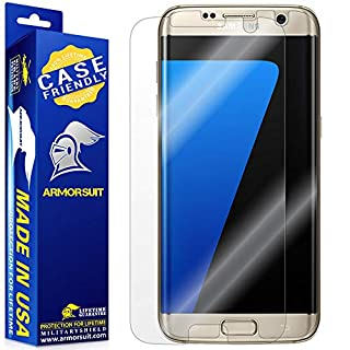 ArmorSuit MilitaryShield Screen Protector Designed for Samsung Galaxy S7 Edge Case Friendly Anti-Bubble HD Clear Film