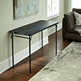 Cosco Products Vinyl Top Folding Table, 20 x 48-Inch, Black