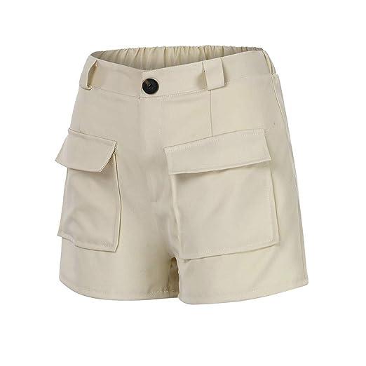 bf9b59d2bb Womens Casual Loose Shorts,nikunLONG Women Plus Size Hot Pants Zipper  Elastic Band Lady Summer
