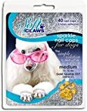 Canine Soft Claws Nail Caps, X-Small, Gold