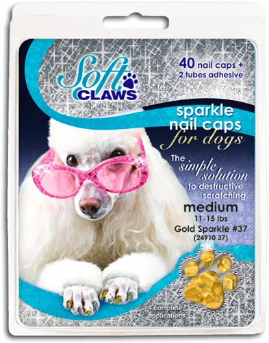 Canine Soft Claws Nail Caps, XX-Large, Gold