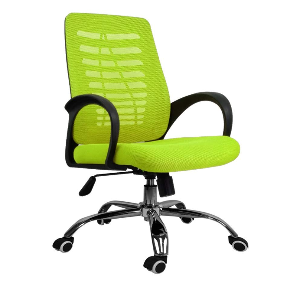 Green Office Essentials Mesh Height Adjustable Chair with Torsion Control 0526P (color   Green)