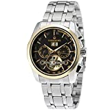 Forsining Men's Automatic Self-winding Day Calendar Stainless Steel Bracelet Brand Watch FSG9404M4S1