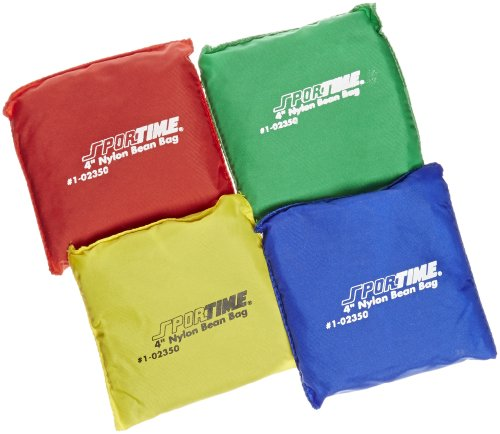 school-smart-nylon-sportime-heavy-duty-bean-bag-assorted-color-4-w-x-4-l-set-of-12