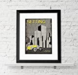 Setting - An Element of a Novel. Educational Classroom Poster featuring The Great Gatsby by F. Scott Fitzgerald