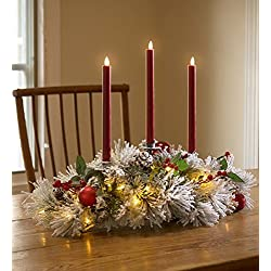 Fairfax Lighted Decorated Holiday Centerpiece