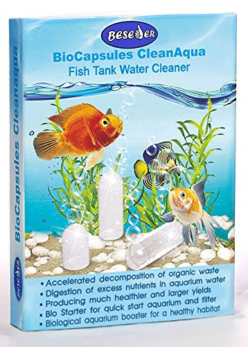 Beseder Biological Booster Aquarium Fish Tank Cleaner. Makes Water Healthier, Reduces Nitrites & Ammonia for Happy Fish & Far Less Cleaning. Fish Tank Supplies for Fish Tank Filter, Glass Cleaning