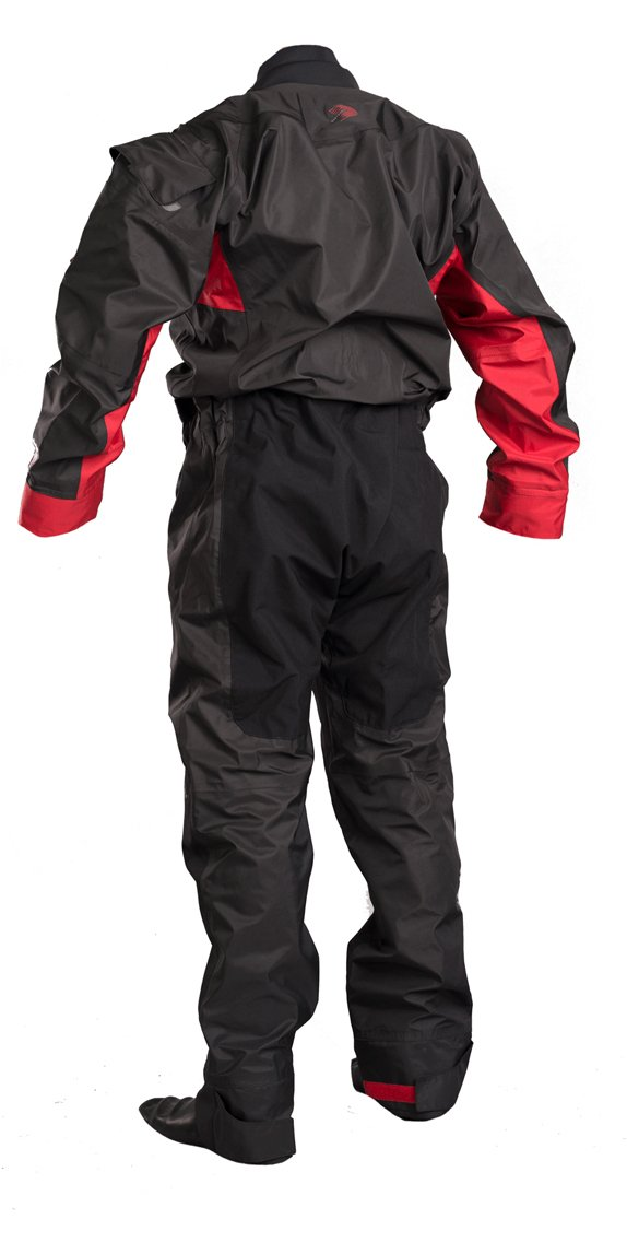 GUL Junior Dartmouth Eclip Zip Drysuit Dry Suit in Black and Red - with Free Undersuit - Heat Taped Seams - 3 Layer Dry Suit