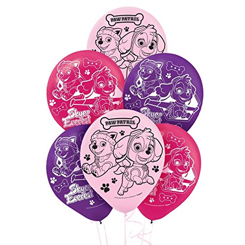 Pink Paw Patrol Girl Party Supplies Latex Balloons (6)