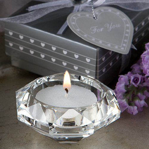 Fashioncraft Choice Crystal Collection Diamond Candle Holder (Pink Teddy Bear Candle Holder)
