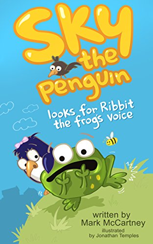 Sky the penguin looks for Ribbit the frog's voice