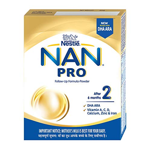 Nestle NAN PRO 2 Follow-up Formula Powder – After 6 months, Stage 2, 400g Bag-In-Box Pack