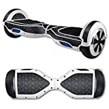 MightySkins Protective Vinyl Skin Decal for Hover Board Self Balancing Scooter mini 2 wheel x1 razor wrap cover sticker Black Diamond Plate