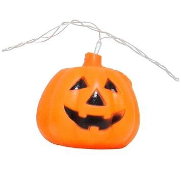 Máscara YN Cadenas de Calabaza de Halloween Festival de casa embrujada Interior Niños Adornos de Linterna