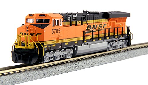 Model Train Locomotives - Kato USA Model Train Products N GE ES44AC Gevo BNSF Locomotive #5785 Train