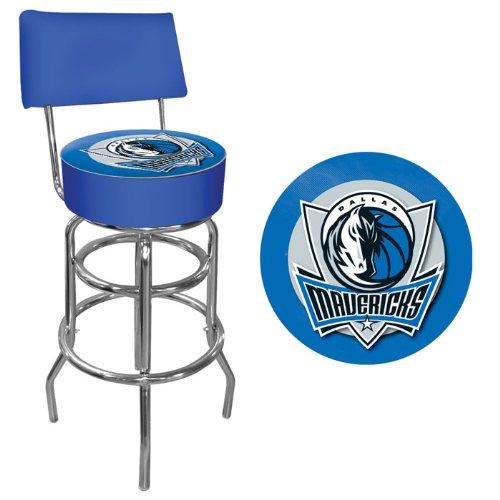 Black Dallas Mavericks Frame (NBA Dallas Mavericks Padded Swivel Bar Stool with)