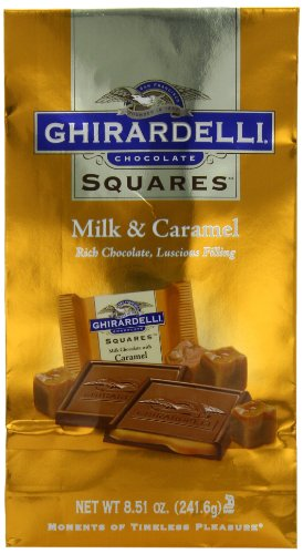 - Ghirardelli Chocolate Squares, Milk Chocolate with Caramel Filling, 8.51 oz., 3 Count