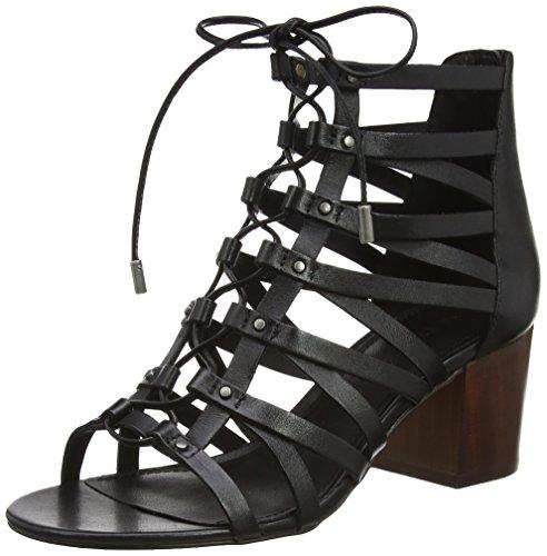 Aldo WoMen Myssi Ankle Strap Sandals Black (Black Leather)