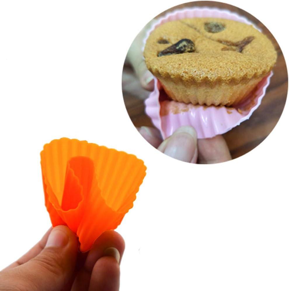 Antihaft-Backgeschirr Backform f/ür Kuchen Brot Eis Cupcake Pudding Muffins Kuchen Fuyamp 10 wiederverwendbare Silikon-Backformen Backf/örmchen
