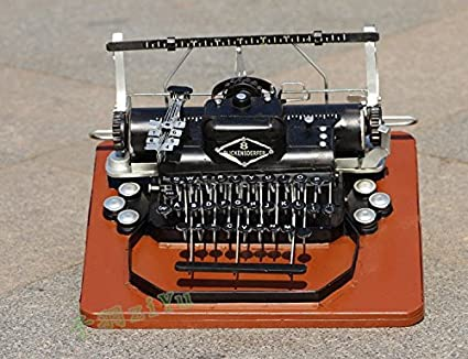 S & T/Vieja máquina de escribir vintage casa ornamentos decorativos, café-restaurant