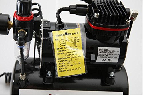 Model Spray Pump Mini Air Compressor Wall Paint Car paint Tool Airbrush with Cylinder 220V by MXBAOHENG (Image #2)