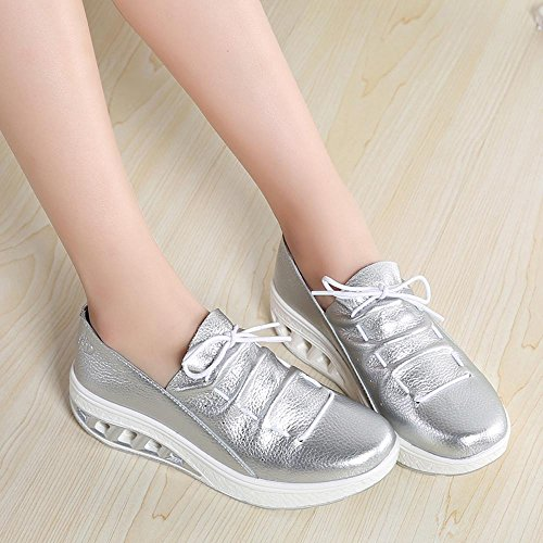 Breathable Shoes Head Sale nbsp; Round Cushion Clearance Women Fashion Air For Women,Farjing Shoes Sports Shake Silver Shoes Leisure 6PnxvwvCFq