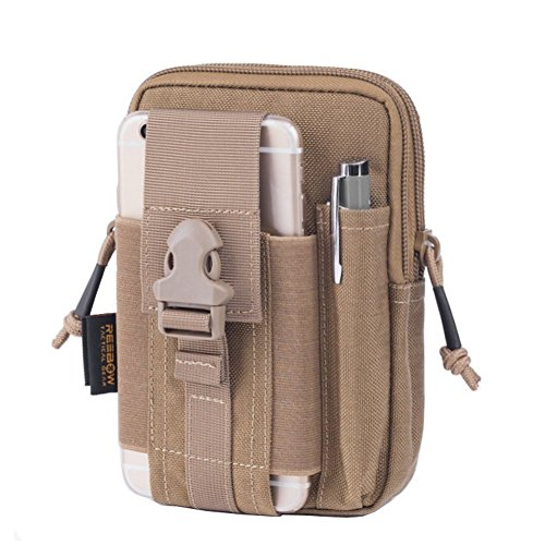 REEBOW GEAR Tactical Molle EDC Utility Pouch Gadget Belt Waist Bag with Cell Phone Holster Holder - Nylon Holster Utility
