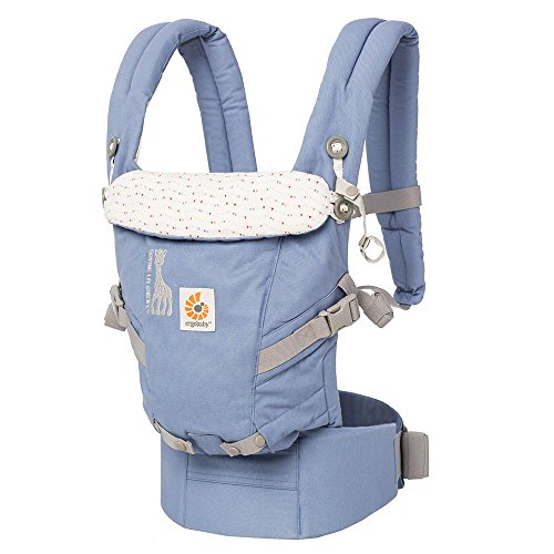 Great Deal! Ergobaby 3 Position Adapt Baby Carrier - Sophie La Girafe Festival Collaboration, Insert...