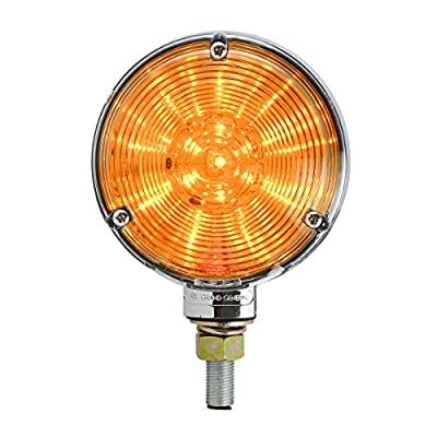 GG Grand General 77613 4 inches Double Faced Star Amber/Red 48 LED Sealed Light with Clear Lens: Automotive