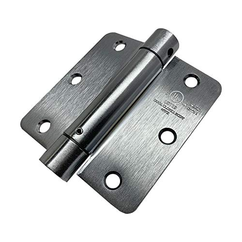 (2 Pack) OASIS 3.5 Inch Spring Door Hinges with 1/4