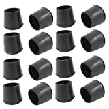 Flyshop 3/4'' Anti-slip Chair Leg Caps Feet Pads Rubber Floor Protectors Round Furniture Table Covers 16Pcs
