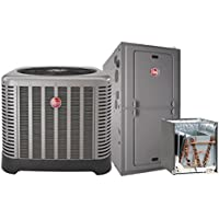3 Ton Rheem 16 SEER R410A 95% AFUE 70,000 BTU Multi-Position Gas Furnace Split System (Yes, please add one to my order, Non-Zero Clearance Kit)