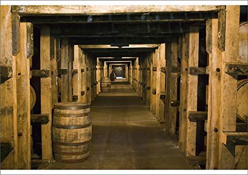 Media Storehouse A2 Poster of USA, Kentucky, Loretto Maker s Mark Bourbon Distillery, Aging Bourbon in (8177055)