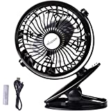 Anemoi Rechargeable Battery Operated car clip on usb fan baby stroller mini desk fan