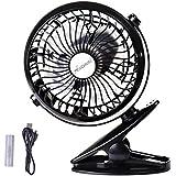 Anemoi Rechargeable Battery Operated car clip on usb fan baby stroller mini desk fan