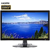 101AV Security Monitor 21.5-Inch True Full HD 1080P 3D Comb Filter 1920x 1080 HDMI VGA and Looping BNC Input Wide Screen Audio Video Display Computer PC monitor for CCTV DVR Home Office Surveillance Optional mount