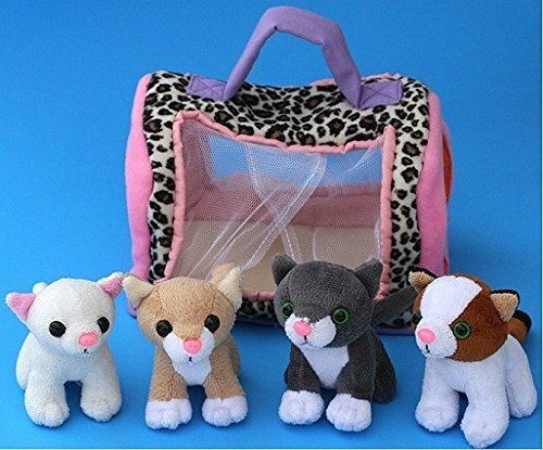 Cat Carrier With 4 Meowing Kittens by Animal House