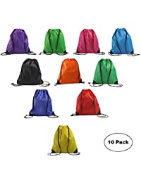Basic Drawstring Backpack Promotional Gym Sack Sport Cinch Polyester Tote Bag For Outside Giveaways and Storage Use