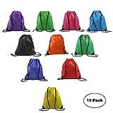 LIHI Bag Promotional Nylon Blank Bulk Drawstring Backpack Basic Gym Sack...