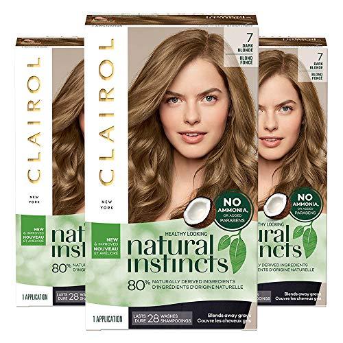 Clairol Natural Instincts, 7 Dark Blonde, Coastal Dune, 3 Count