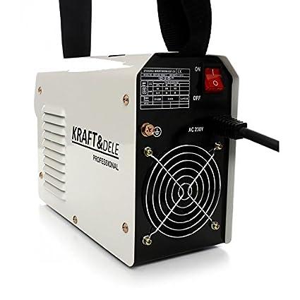 kd845 250 A soldadura Inverter electrodo Kraft & Dele Alemania Professional Mag MMA TIG 250 Amp: Amazon.es: Bricolaje y herramientas