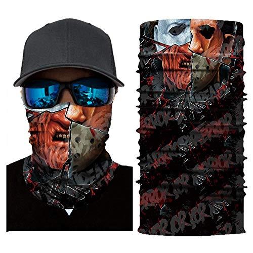 Palalibin Cycling Motorcycle Head Scarf Neck Warmer Face Mask Ski Balaclava Headband (F, Free)