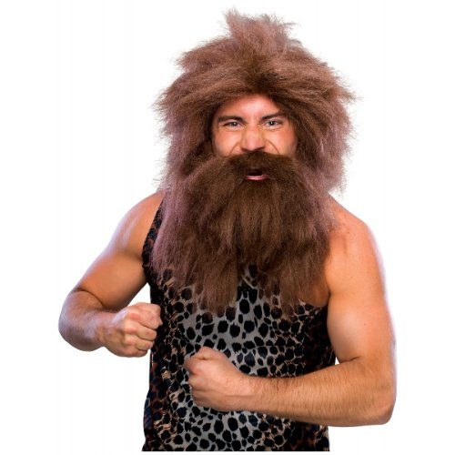 [Rubie's Costume Characters Caveman Beard And Set Wig, Brown, One Size] (Discount Costumes Wigs)