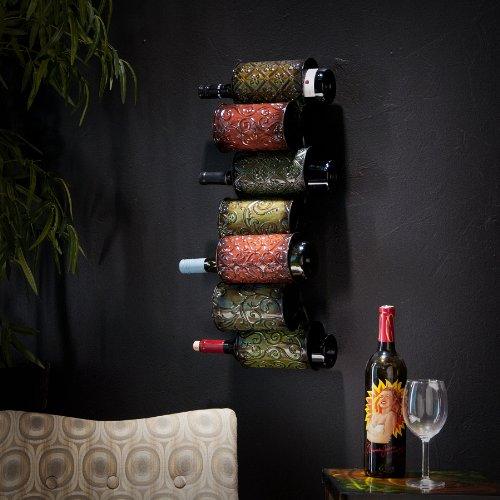 SEI Grazia Wall Mount Wine Storage