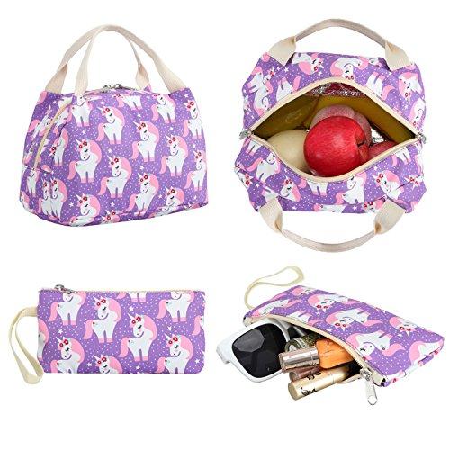 CAMTOP Teens Backpack for School Boys Girls School Bookbag Set Travel Daypack (3pcs Backpack sets/Purple) by CAMTOP (Image #2)
