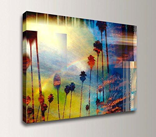 ''Palm City'' - Coastal Artwork Modern Wall Decor by The Modern Art Shop