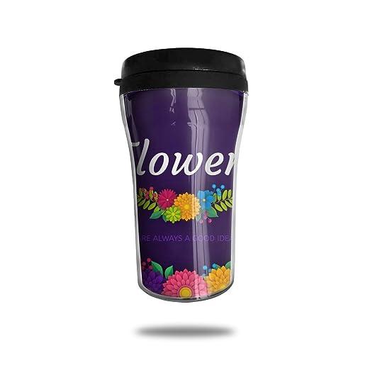 Taza de café de viaje ArtCard de papel floral 3D Taza de ...